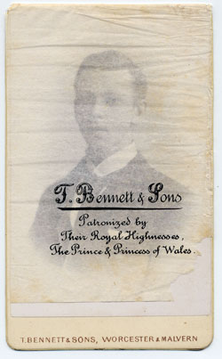 Thomas Bennett & Sons carte de visite 2 tissue