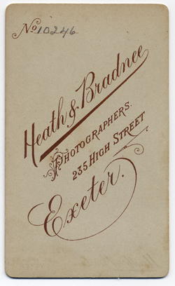 Heath & Bradnee Carte de visite 1 Back