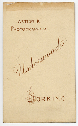 William Usherwood Carte de Visite 3 (verso)