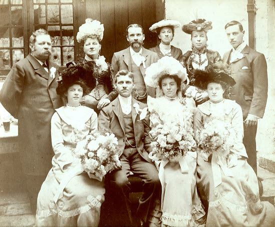 Family wedding photograph 1902