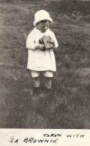 J T Biltcliffe's son Charlie with his first camera