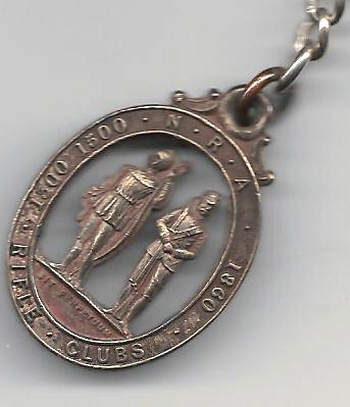 National Rifle Association medal won by  Fred Biltcliffe