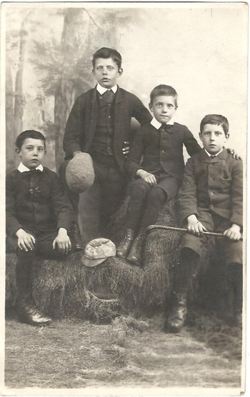 The Biltcliffe boys, Fred, Ernest, Henry & J T, – about 1887