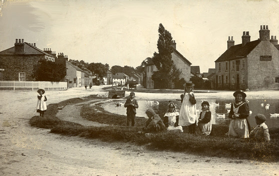 Postcard of Weaverthorpe probably by J H Wilson – 1905