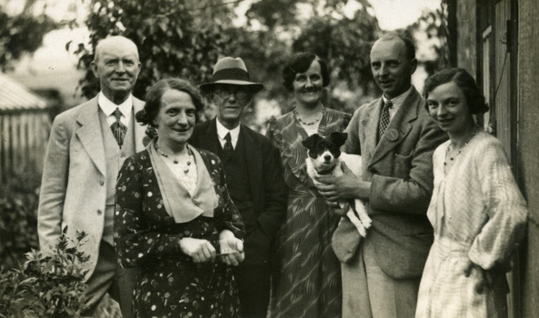 John Henry & Margaret Wilson on the left and son Harry & daughter Clara on the right at Weaverthorpe Show – 1935