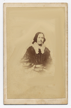 Mrs Emma Exley carte de visite photograph 2