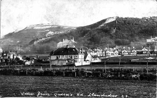 Postcard - view from Queen's Road, Llandudno.