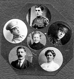 Composite photograph of Ernest, Fanny and their 4 sons taken about 1914