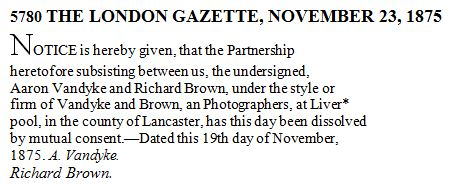 THE LONDON GAZETTE, NOVEMBER 23, 1875