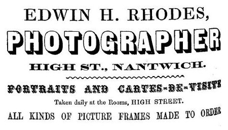 Rhodes, E H advert Cheshire Directory 1864