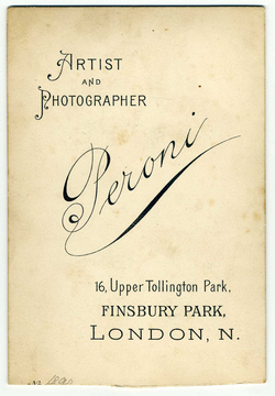 carte de visite Peroni Biography 16