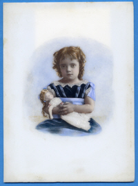 Hand Coloured Opalotype Ida Horner 1879 12cm x 165cm