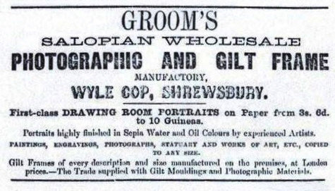 Groom, Josiah Advert 1861
