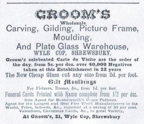 Groom, Josiah Advert 1880