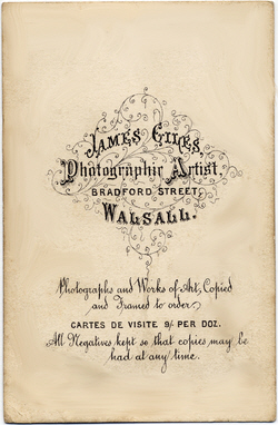 Giles, James carte de visite back