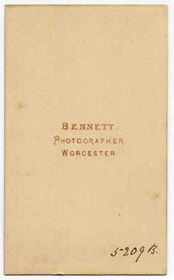 Thomas Bennett carte de visite 3 (verso)