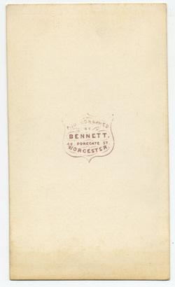 Thomas Bennett carte de visite 4 (verso)