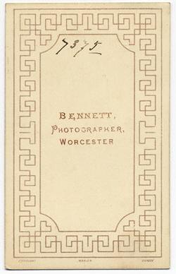 Thomas Bennett carte de visite 5 (verso)