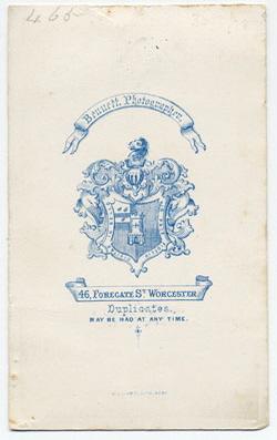 Thomas Bennett carte de visite 6 (verso)