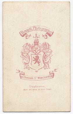 Thomas Bennett carte de visite 7 (verso)