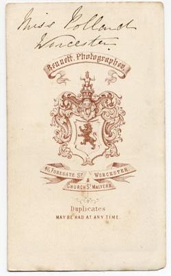 Thomas Bennett carte de visite 8 (verso)