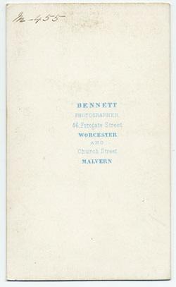 Thomas Bennett carte de visite 10 (verso)
