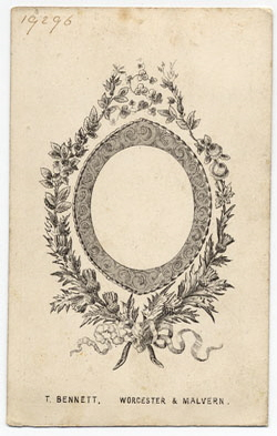 Thomas Bennett carte de visite 12 (verso)