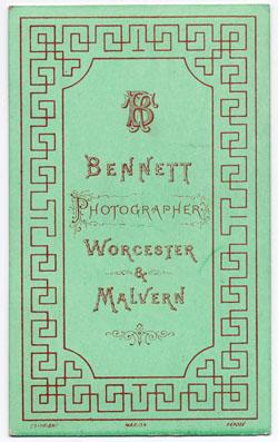 Thomas Bennett carte de visite 17 (verso)