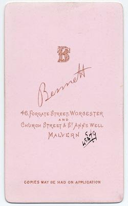 Thomas Bennett carte de visite 20 (verso)