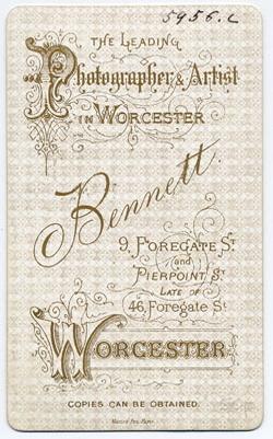 Thomas Bennett carte de visite 23 (verso)