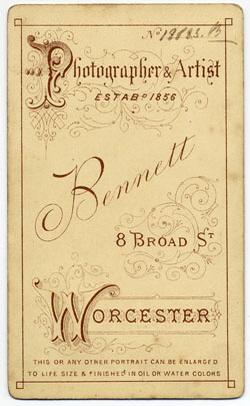 Thomas Bennett carte de visite 30 (verso)