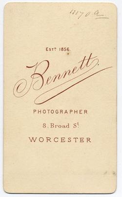 Thomas Bennett carte de visite 31 (verso)