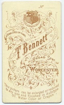 Thomas Bennett carte de visite 32 (verso)