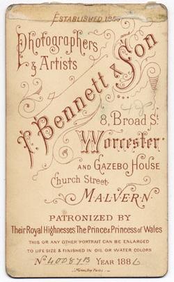 Thomas Bennett & Son carte de visite 3 (verso)