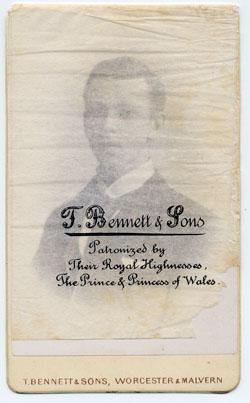 Thomas Bennett & Sons carte de visite 2 tissue
