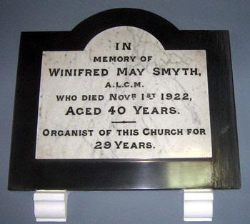 Smyth, Charles - Organist Plaque