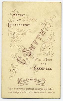Smyth, Charles carte de visite 1 (verso)
