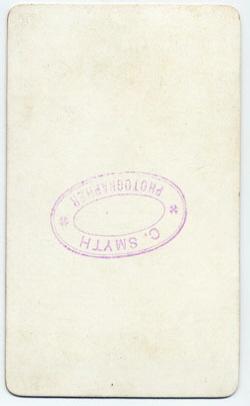 Smyth, Charles carte de visite 3 (verso)