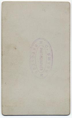 Smyth, Charles carte de visite 4 (verso)
