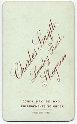 Smyth, Charles carte de visite 6 (verso)