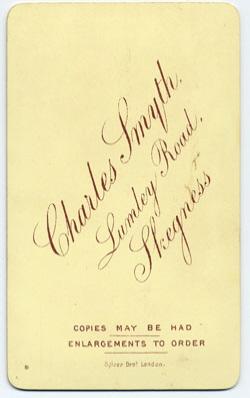 Smyth, Charles carte de visite 8 (verso)