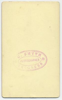 Smyth, Charles carte de visite 10 (verso)