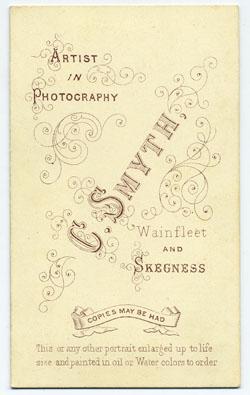 Smyth, Charles carte de visite 14 (verso)