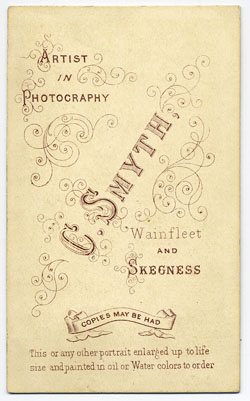 Smyth, Charles carte de visite 15 (verso)