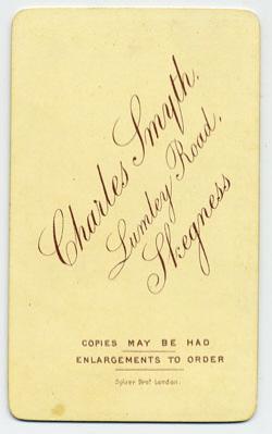 Smyth, Charles carte de visite 16 (verso)