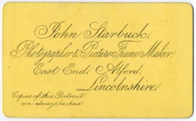 Starbuck, John carte de visite 3 (verso)