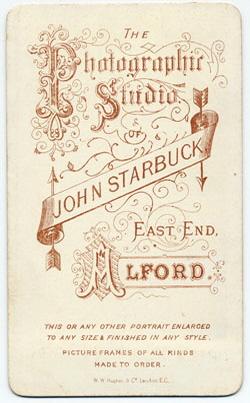 Starbuck, John carte de visite 4 (verso)