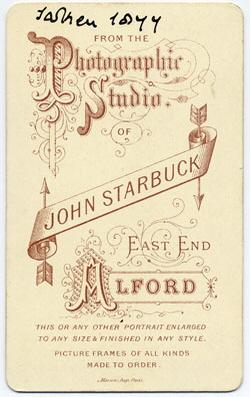 Starbuck, John carte de visite 5 (verso)