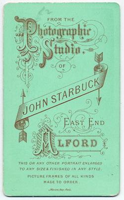 Starbuck, John carte de visite 6 (verso)