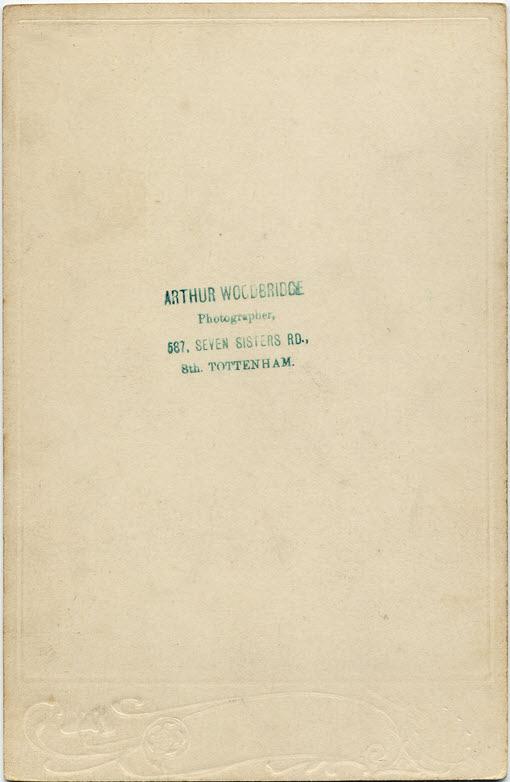 Arthur Alfred Woodbridge cabinet 3 (verso)